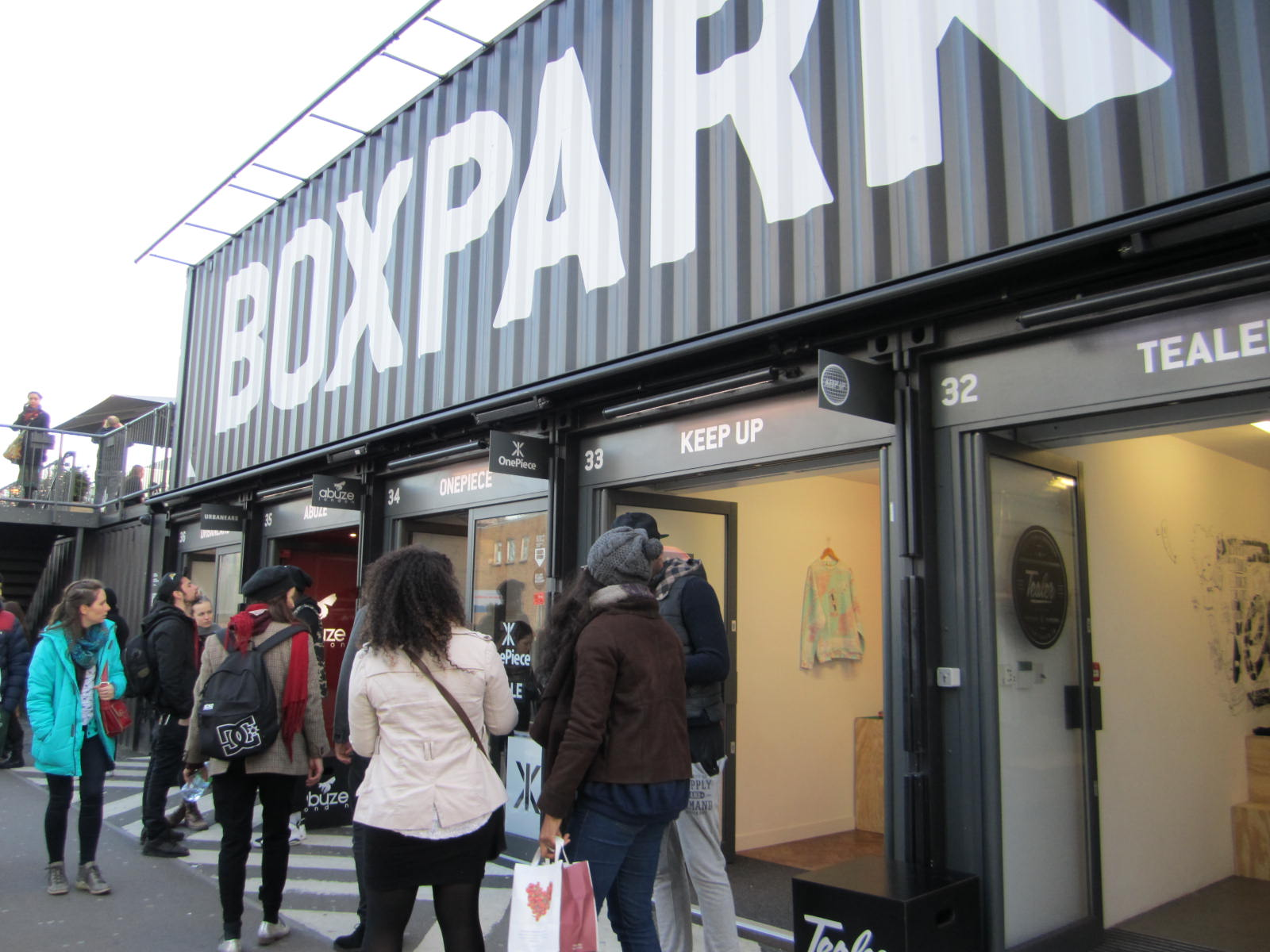 BoxPark Pop-up Shopping Mall