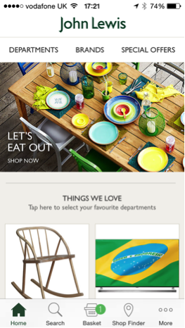 John Lewis Mobile Website