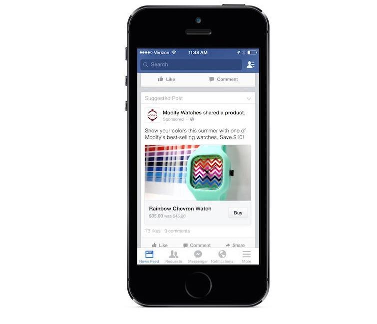 Facebook 'Buy Now' Button