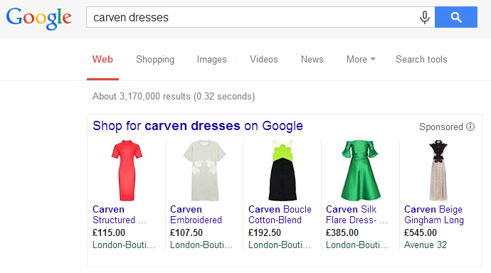 Carven Google Shopping Campaign