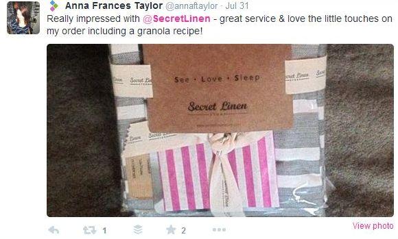 secret linen tweet