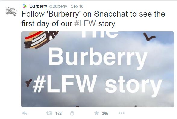 Burberry on Snapchat