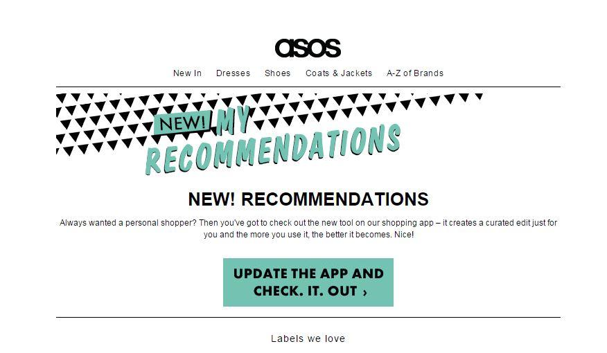 ASOS sale recommendations