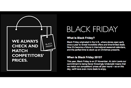 Black Friday John Lewis