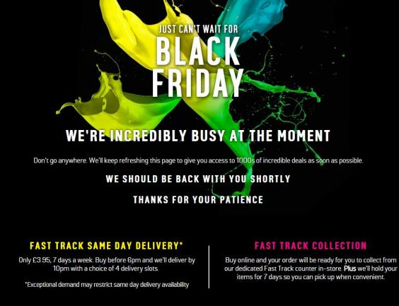 Argos website Black Friday